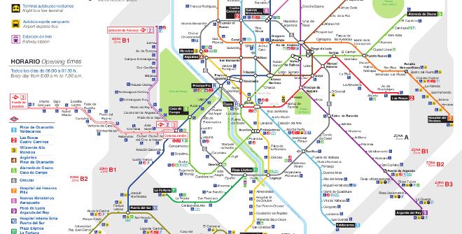 מפת מטרו (רכבת התחתית) של מדריד קו 10